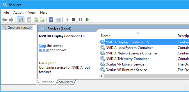 End NVIDIA Display Container Process