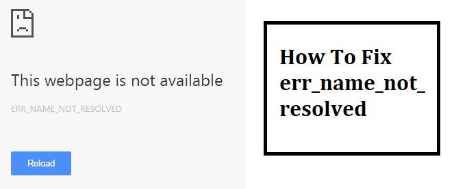 err_name_not_resolved
