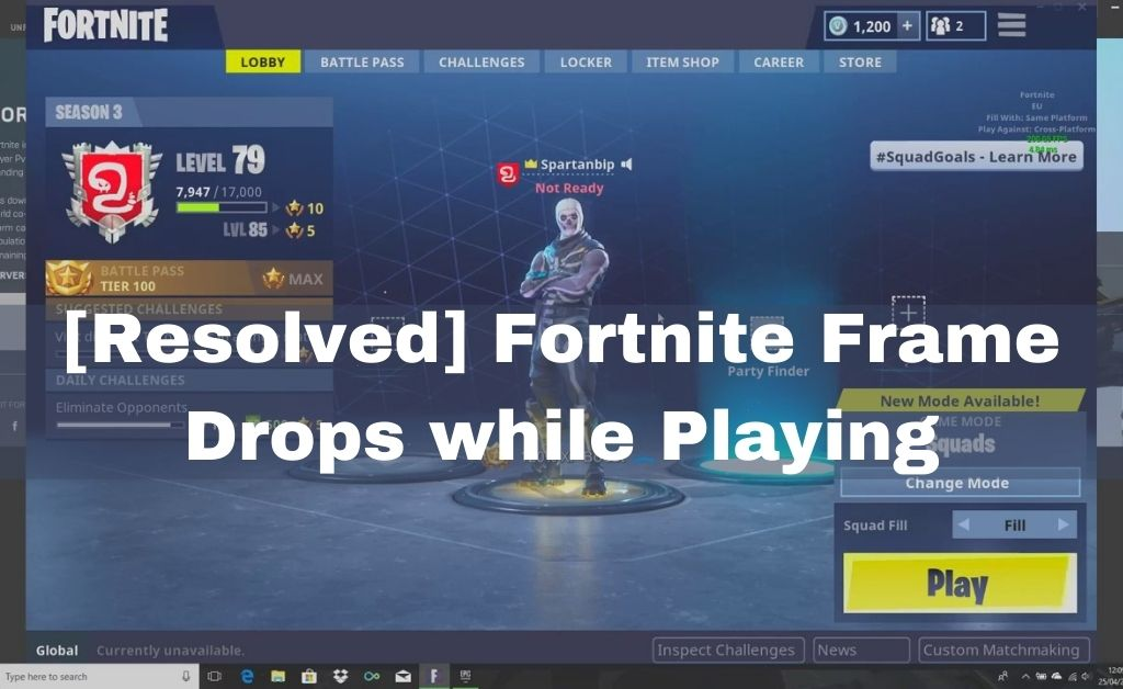 Fortnite Frame Drops
