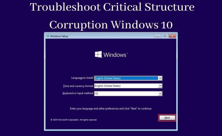 Critical Structure Corruption Windows 10