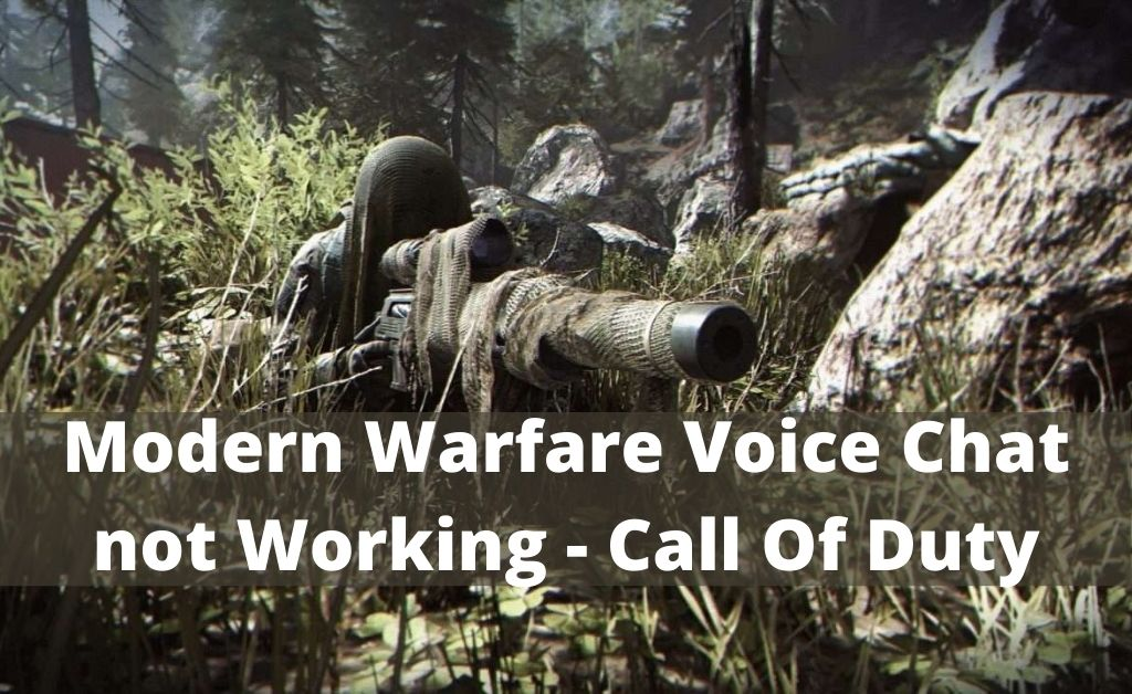 modern warfare voice chat not working